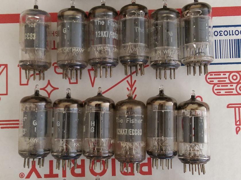 Telefunken, Mullard, Amperex, USA 12AX7 Tubes  - Over 100 Total