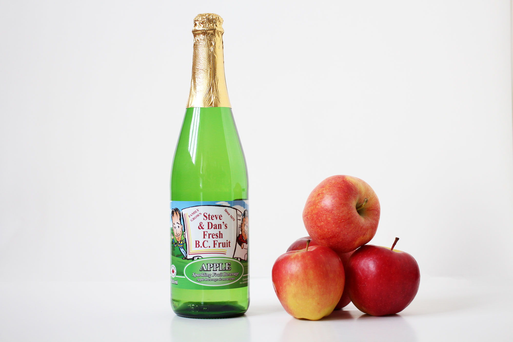 Sparkling Apple Juice - Souto Farms Fresh BC Fruit