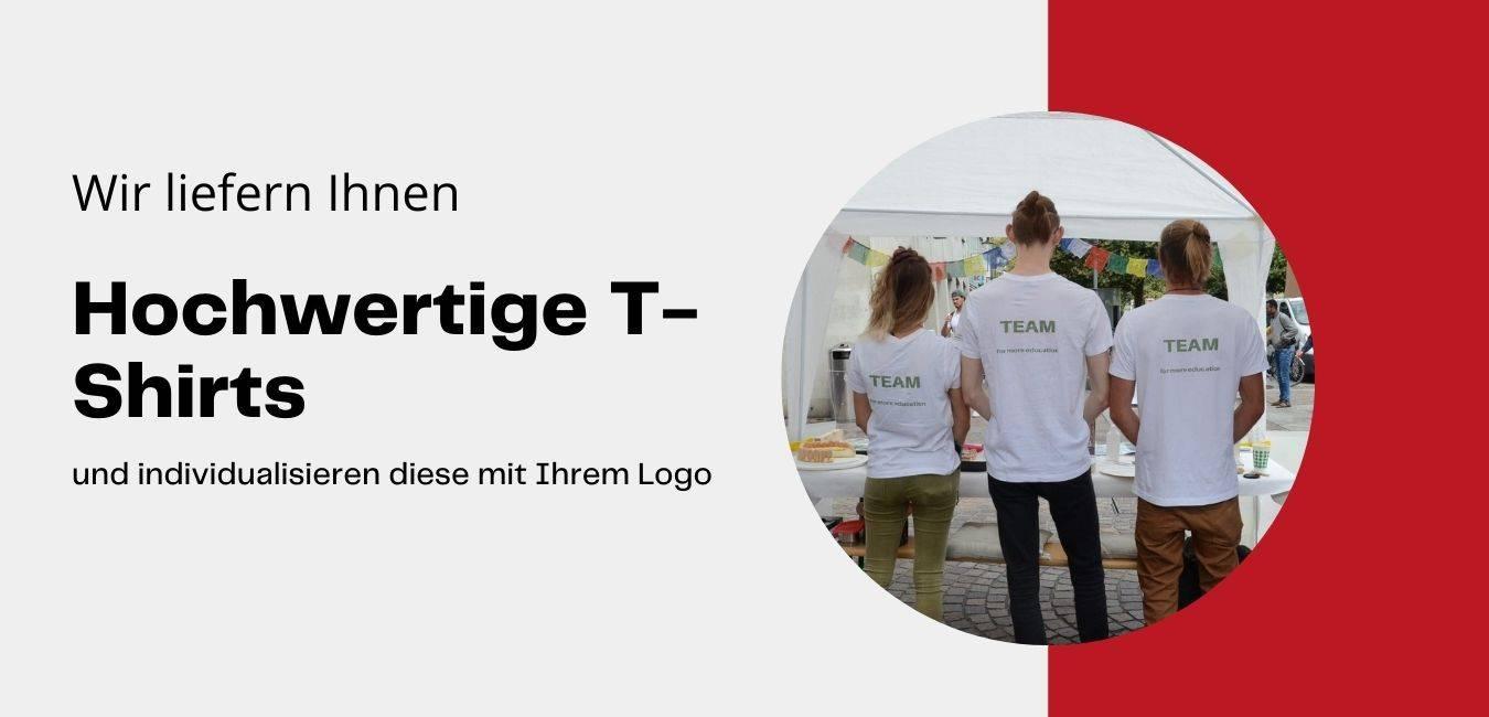 T-Shirts besticken-bedrucken mit Logo