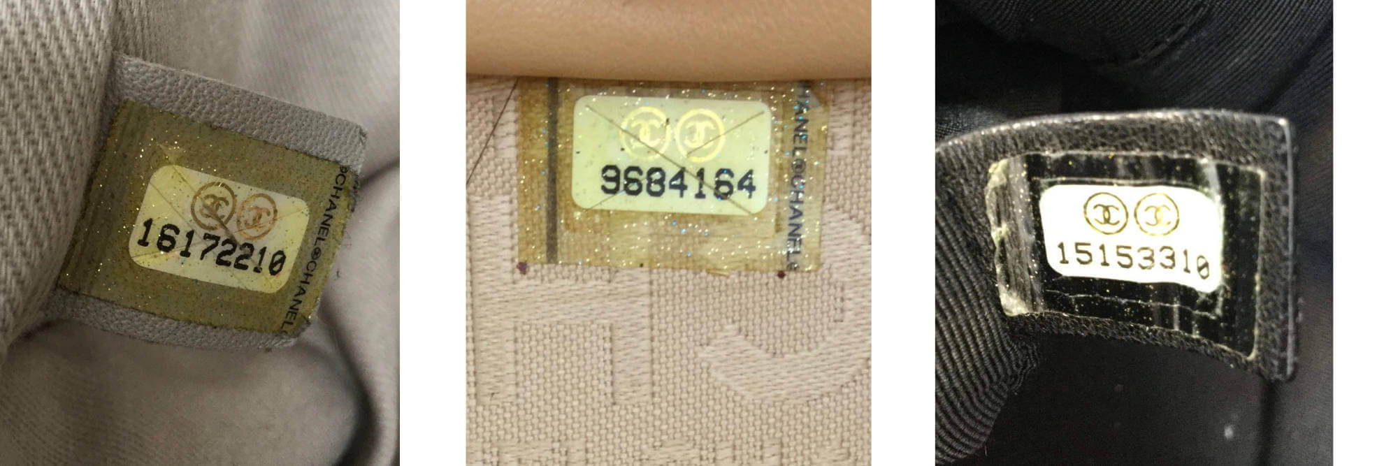 Chanel bag serial number examples