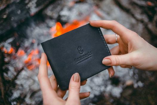 Кожаный бумажник Basic Blue