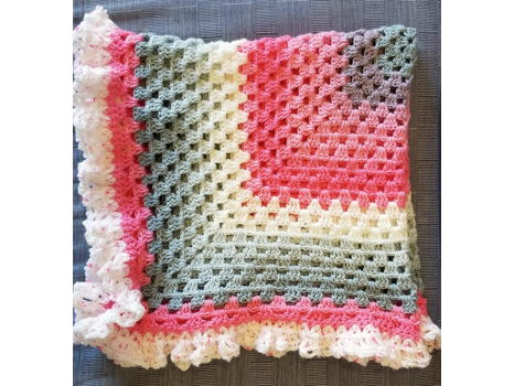 Hand Crocheted Baby Blanket