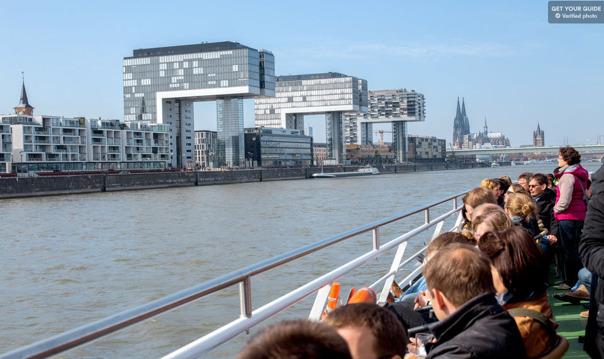 Кёльн: часовой панорамный круиз по городу с посещением Хард-рок кафе