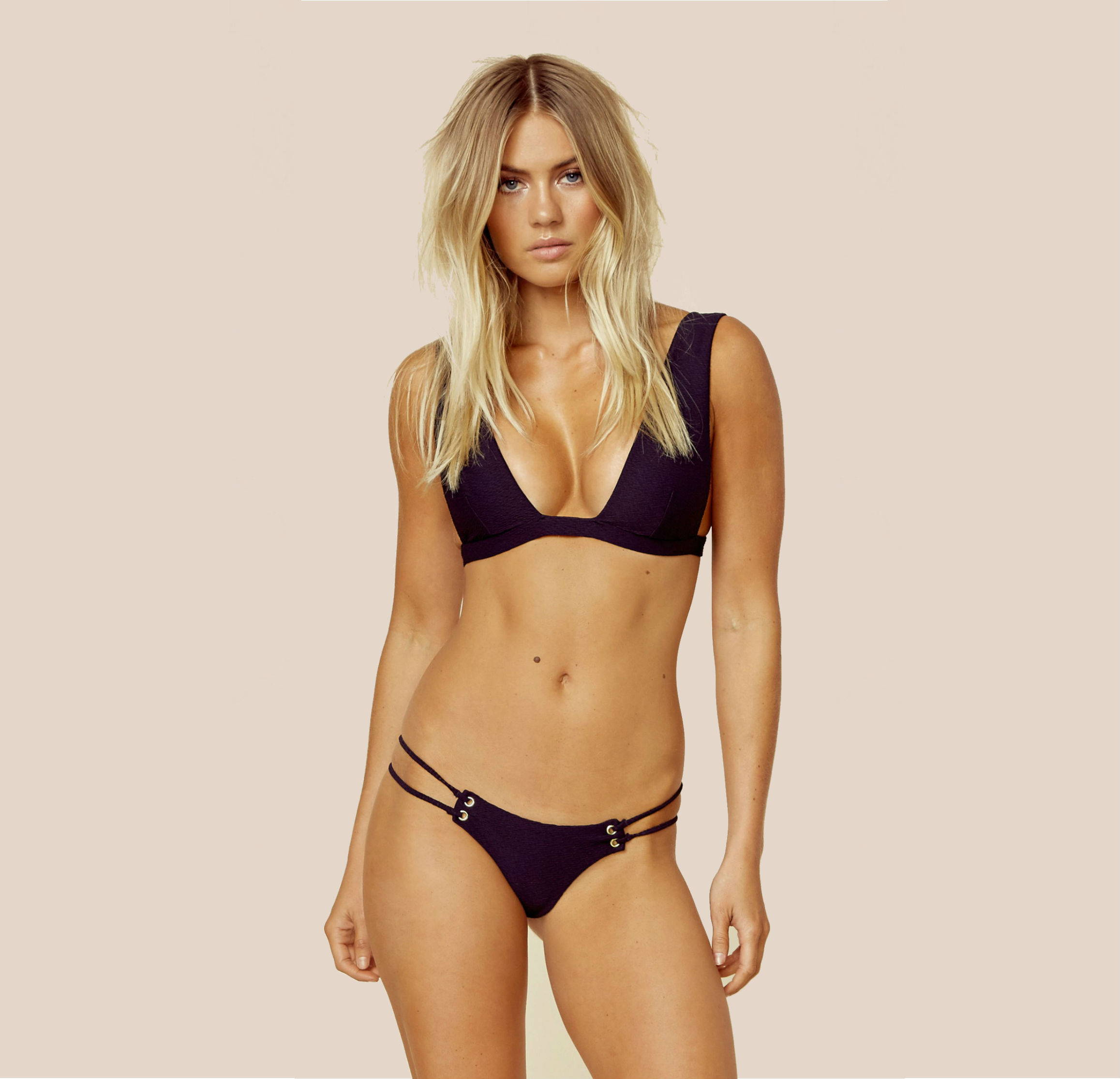 Blue Life Roped Up Halter Bikini Top + Skimpy Bottom