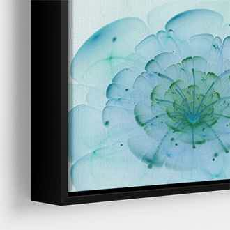 Narrow black metallic canvas floater frame