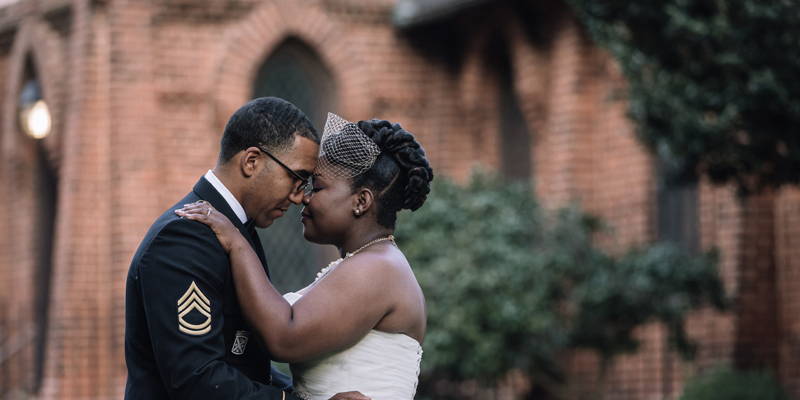 Ultra Vintage and Glam Vibes for This Military Man and His Bride
