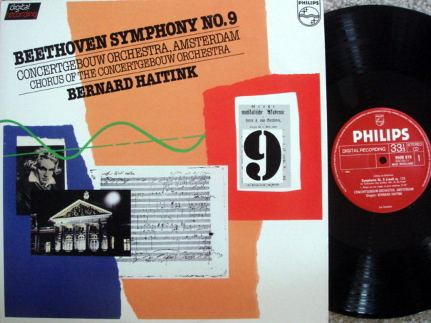 Philips Digital / HAITINK, - Beethoven Symphony No.9 Chorale,  MINT, 2 LP Set!