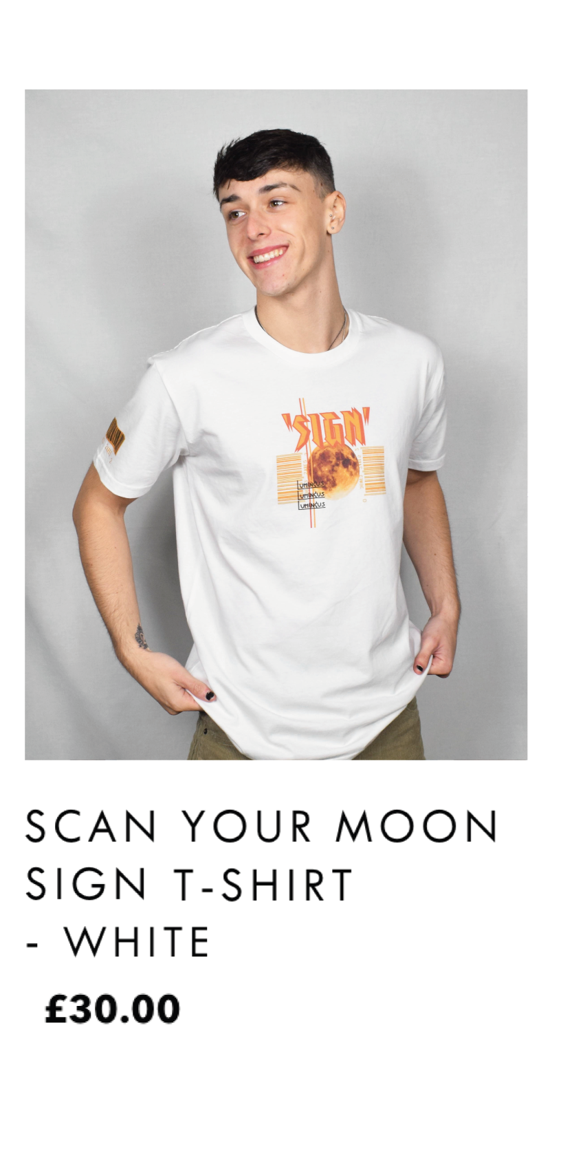 Scan Your Moon Sign T-shirt - White