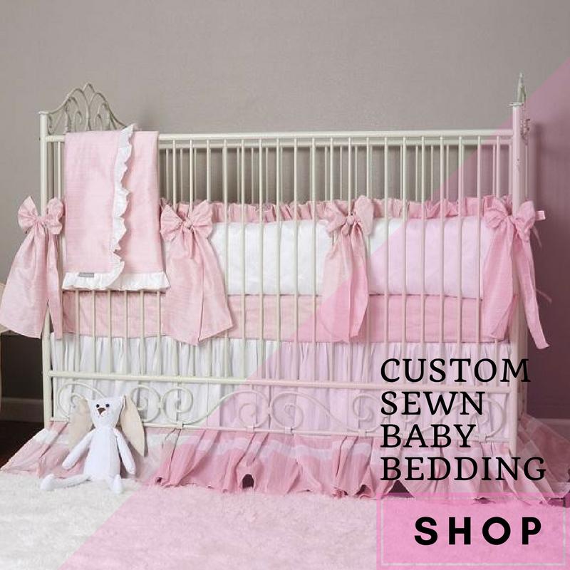 Custom sewn baby bedding