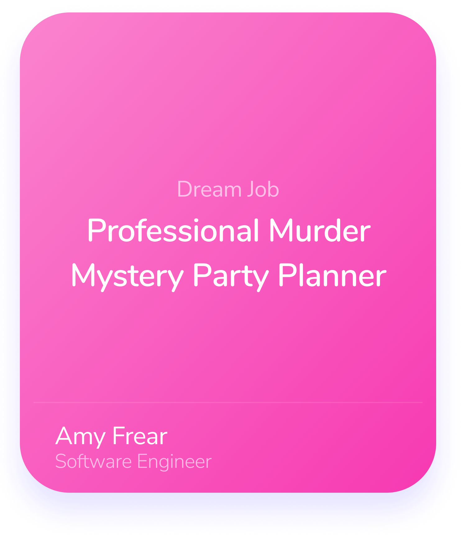 Amy Frear Software Engineer