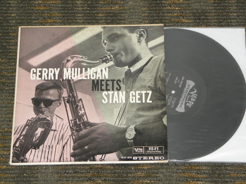 "Gerrry Mulligan/Stan Getz - ""Gerry Mulligan Metts Stan Getz"" Verve MG VS-68249 Orig issue STEREO"