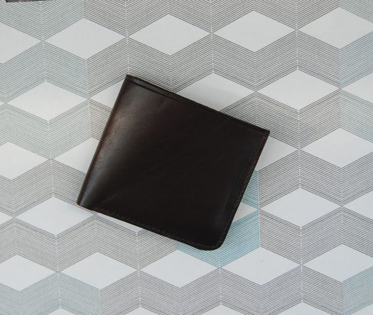 Кожаный коричневый кошелек Wave Brown
