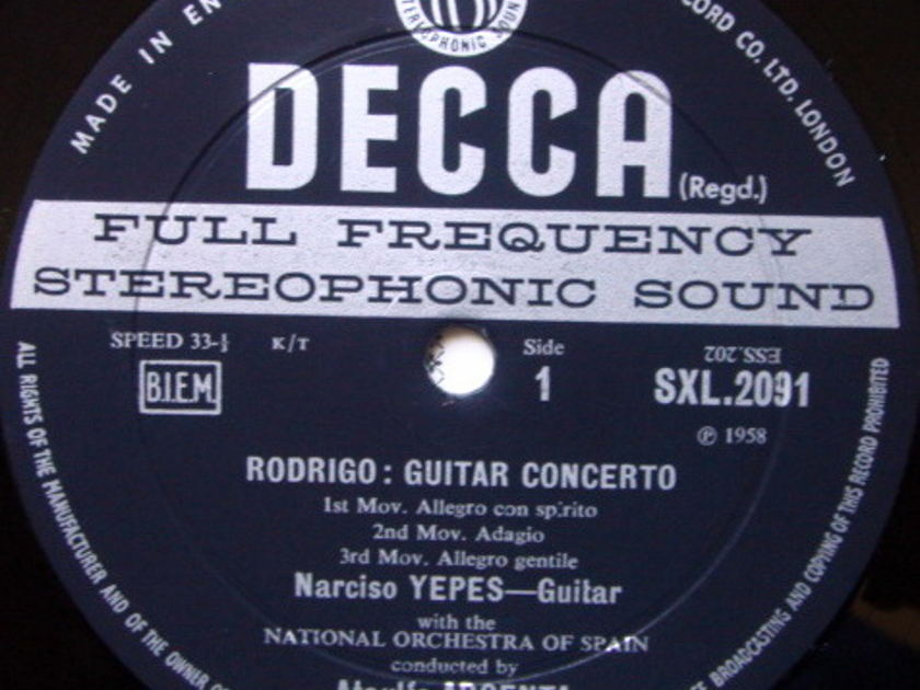 DECCA SXL-WB-ED2 / YEPES-ARGENTA, - Falla Nights in the Gardens of Spain, NM!