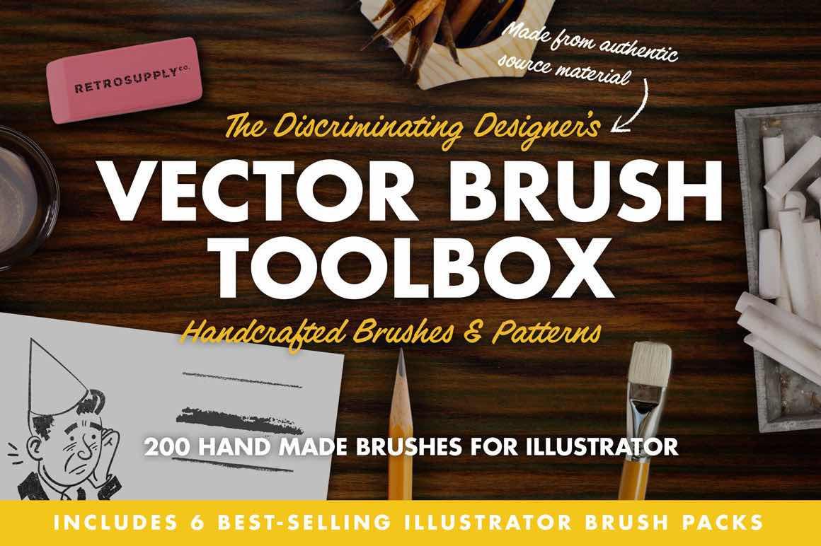 Retro brushes for Illustrator