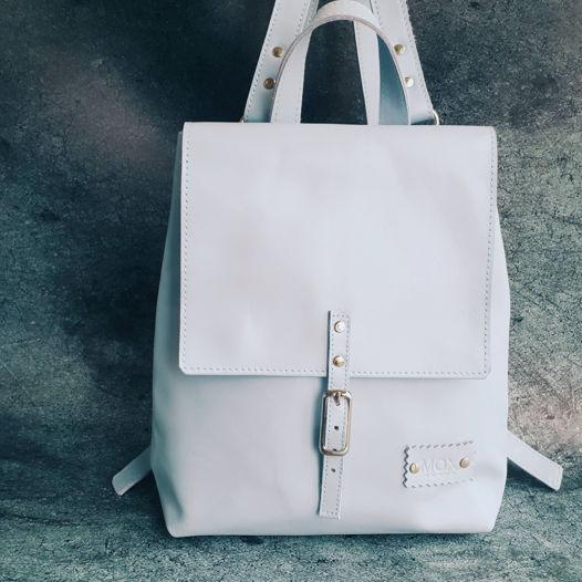 Рюкзак из кожи Elphie голубой