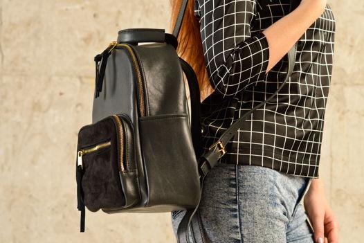Кожаный рюкзак  женский EVADA