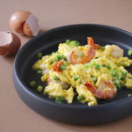 Chinese Scrambled Eggs with Shrimp