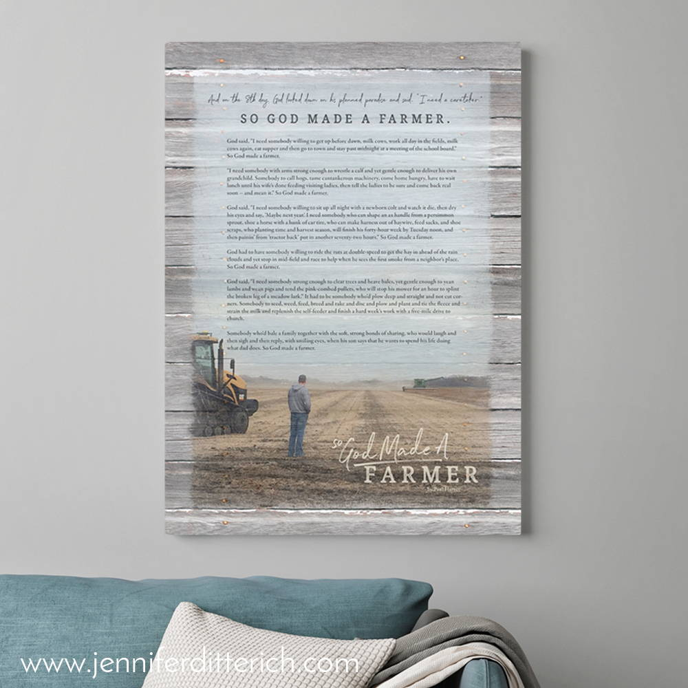Custom So God Made a Farmer Print
