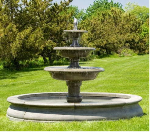 large outdoor fountains, fountains with pools, large fountains with pools, large tiered fountains