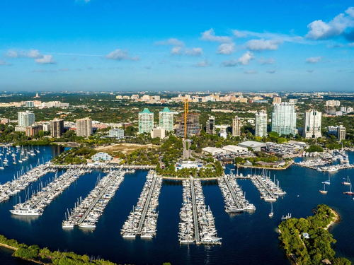 skyview of Coconut Grove