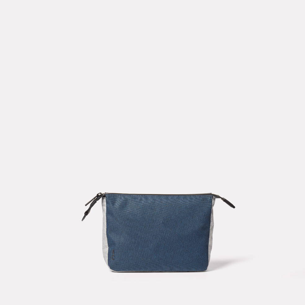Wiggy Non Leather Travel Cycle Washbag in Navy/Grey