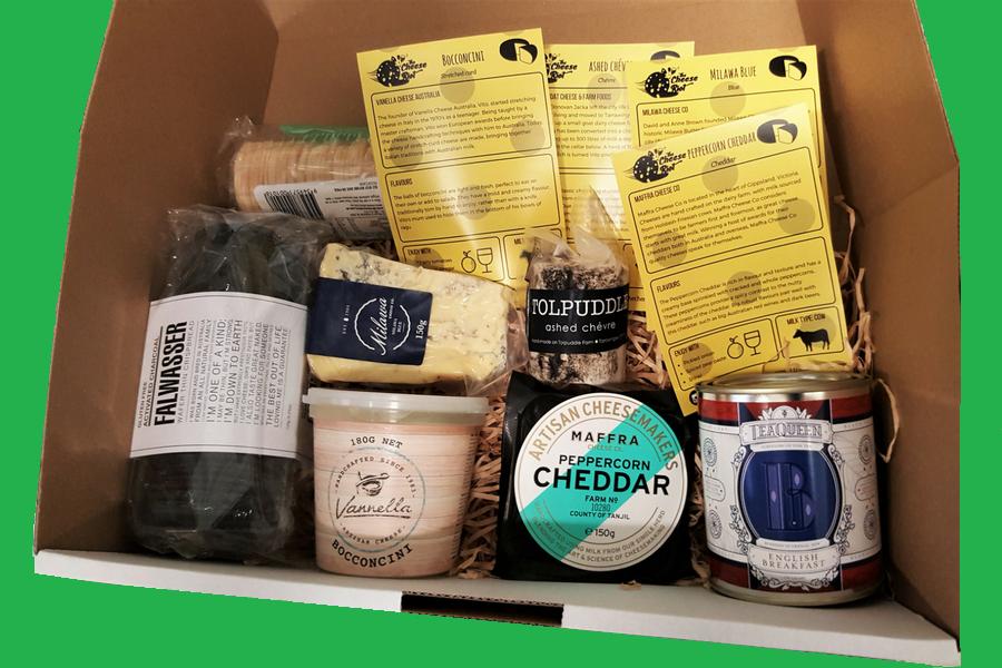 Gourmet cheese hamper box