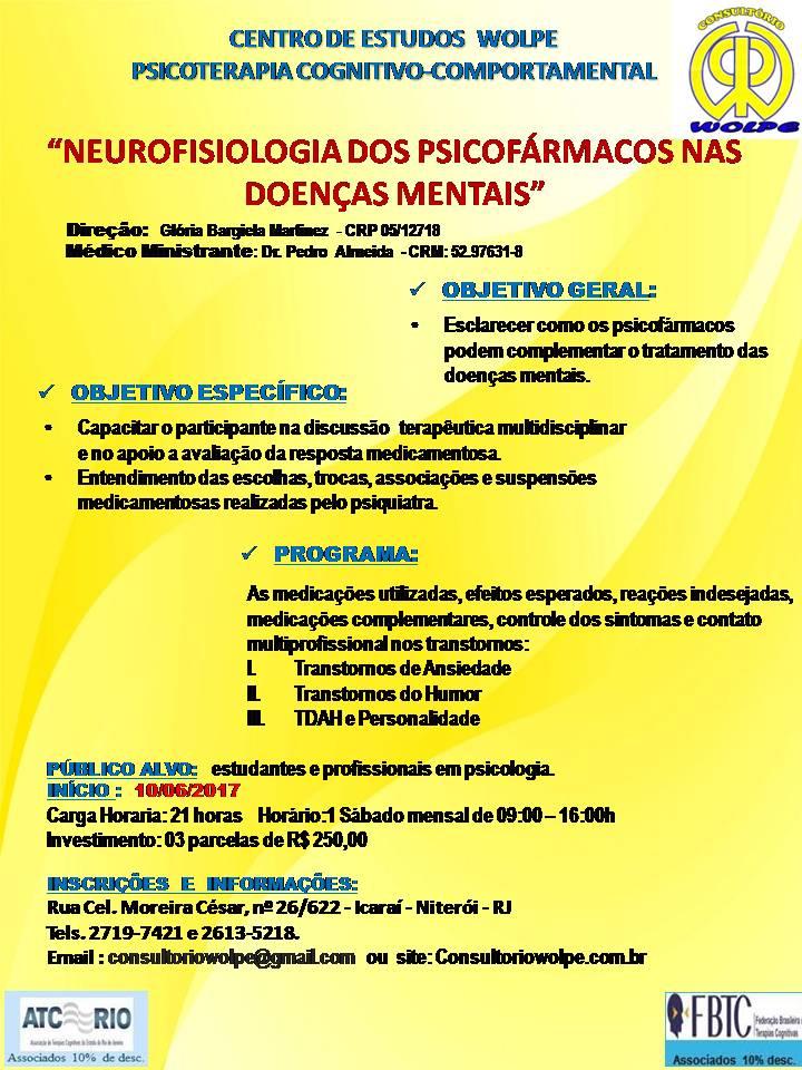 NEUROFISIOLOGIA DOA PSICOFÁRMACOS NAS DOENÇAS MENTAIS