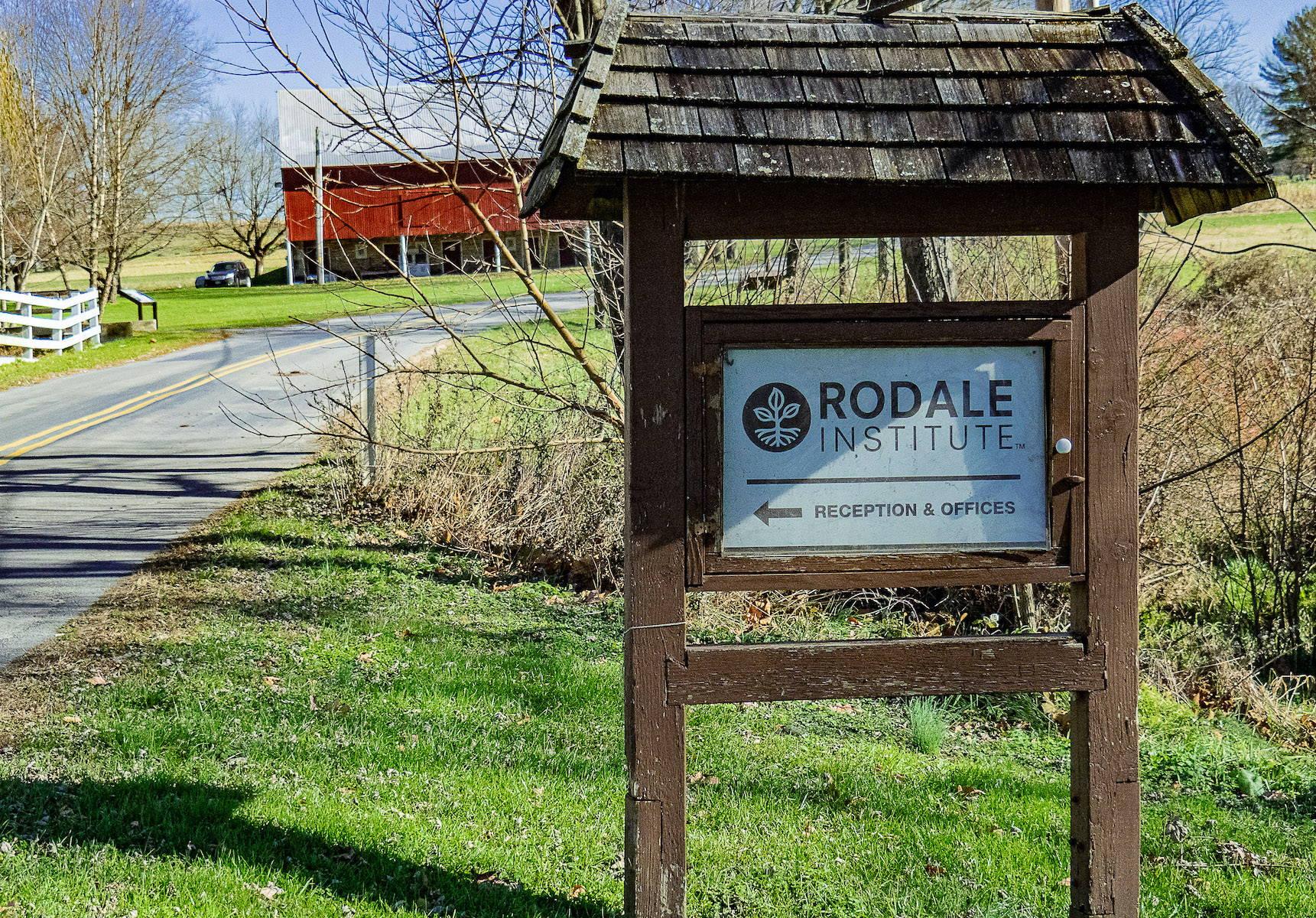 Rodale Institute signage