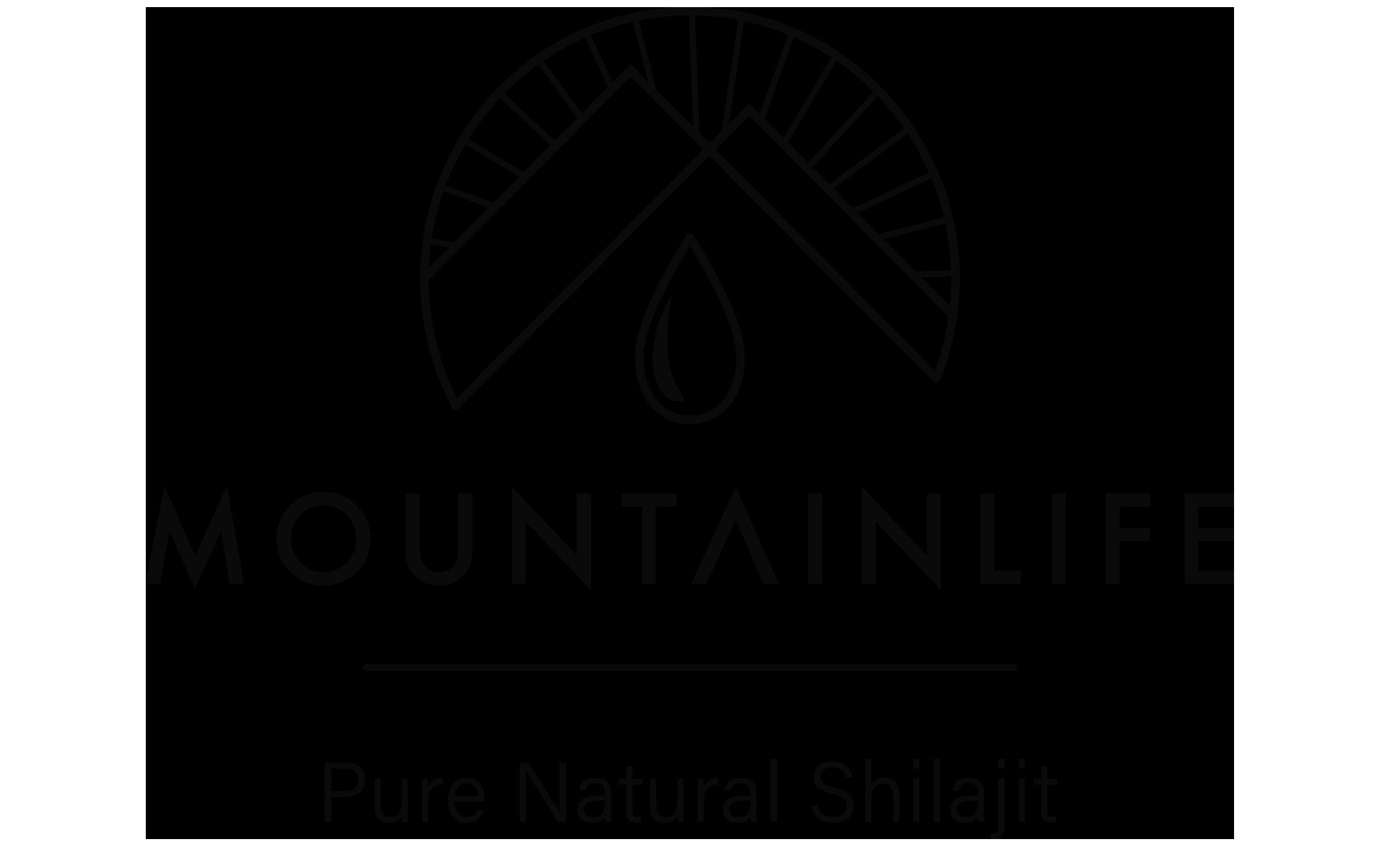Mountainlife pure natural shilajit logo in black