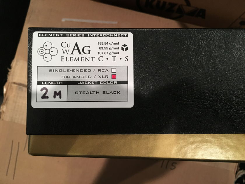 SYNERGISTIC RESEARCH ELEMENT C.T.S 2 METER XLR W/GALILEO POWER AND TUNING CAPS