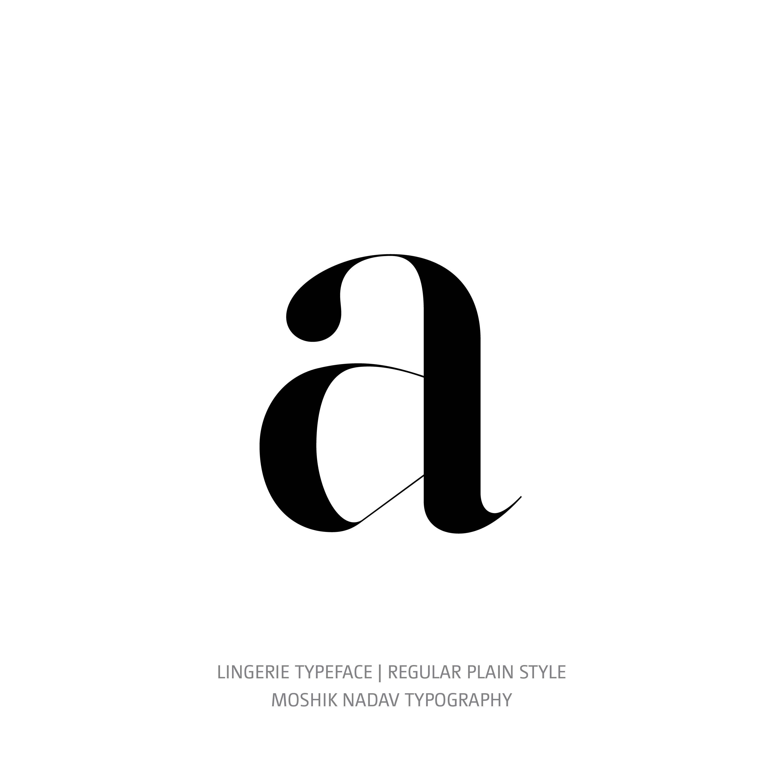 Lingerie Typeface Regular Plain a