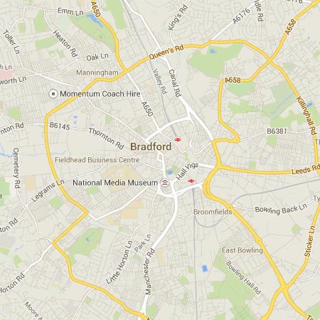 UK Outdoor Fitness Map of Bradford