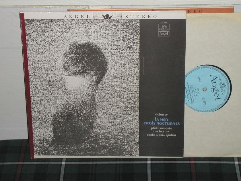 Carlo Maria Giulini/PO - Debussy: La Mer / Trios Nocturnes Blue/Silver Angel LP from 60's.