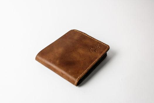 Кожаный мужской бумажник -BIFOLD- цвет Brown Vintage