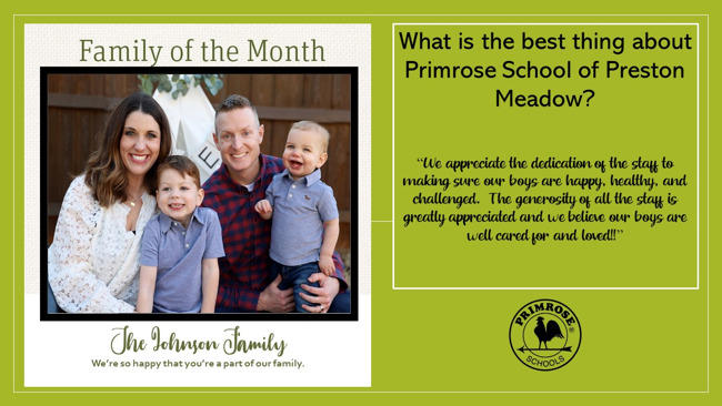 FOM Family of the Month Preston Meadow Rocks parents two boys mom dad happy dedicated