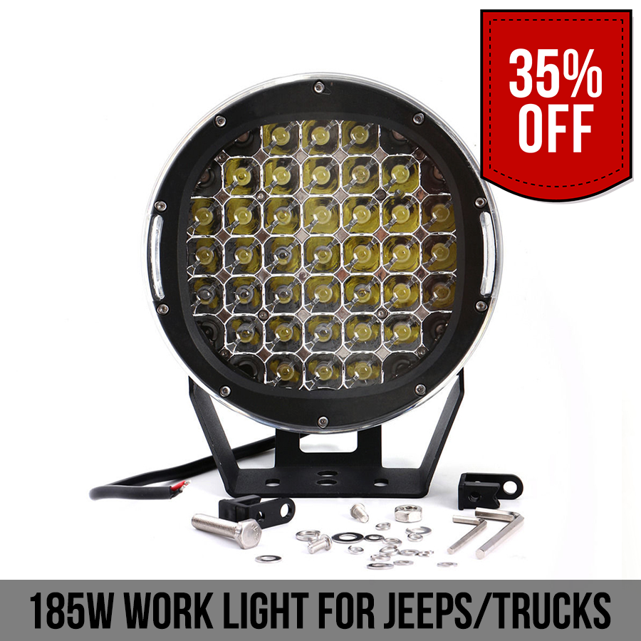 185W Work Light For Jeep