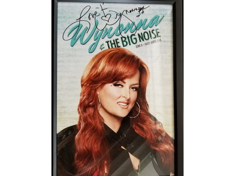 414 Wynonna Judd Autographed and Framed Poster
