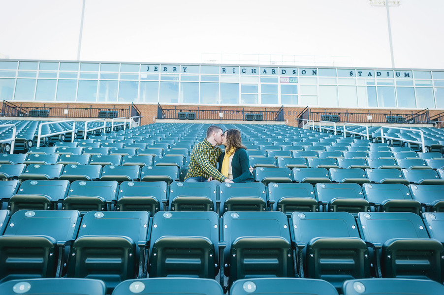 Sweet engagement shoot at alma mater