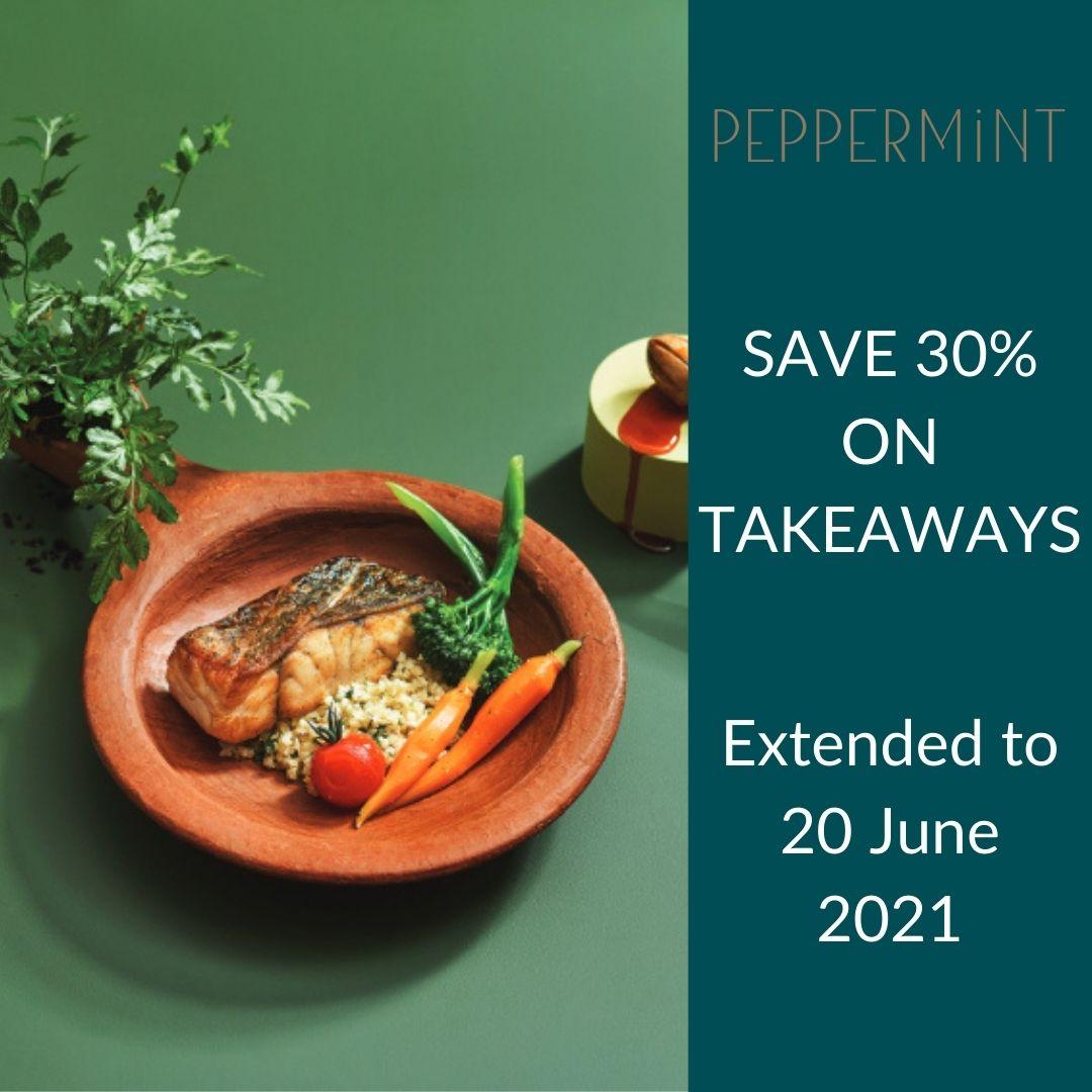 Enjoy 30% off takeaways at Peppermint!