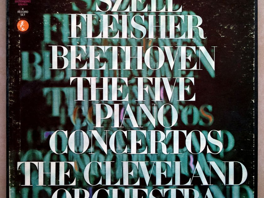 COLUMBIA | LEON FLEISHER /SZELL/BEETHOVEN - The Five Piano Concertos / 4-LP / EX