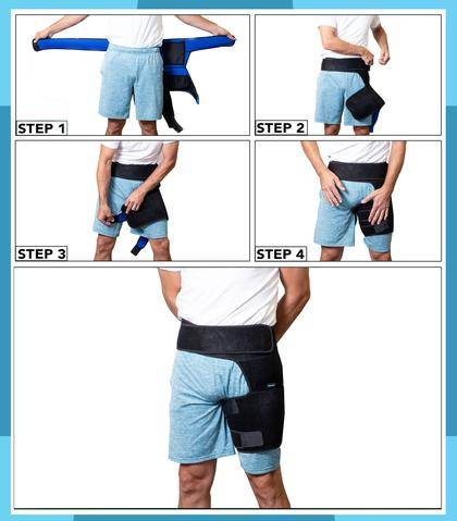 how to put the hip compression sleeve on