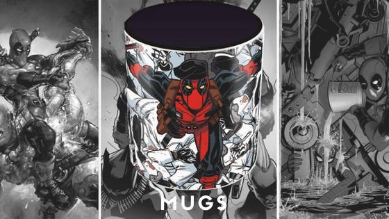 Deadpool Movie and Comic Mugs, free shipping across India