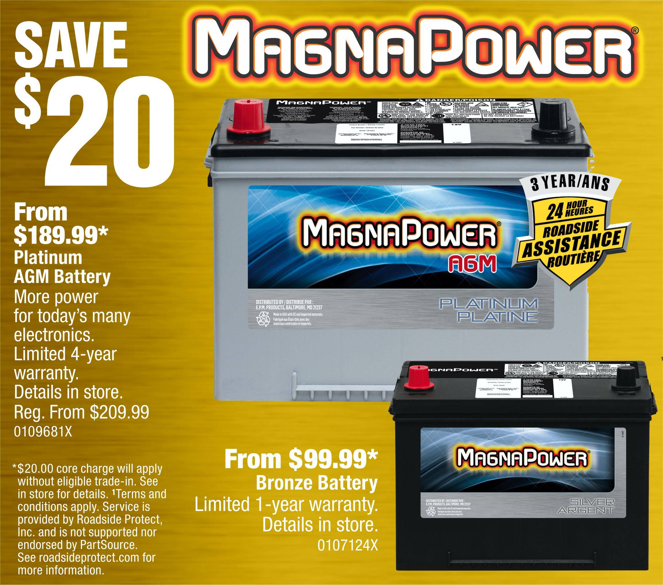 Save $20 on MagnaPower car batteries
