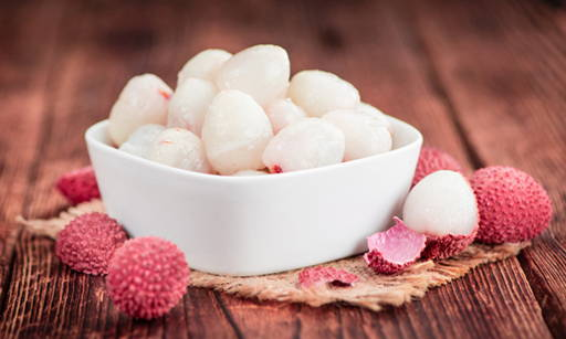 Lychee A valuable source of vitamins (contains more vitamin C than citrus fruit) and
