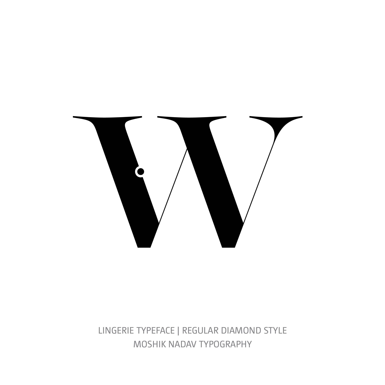 Lingerie Typeface Regular Diamond w