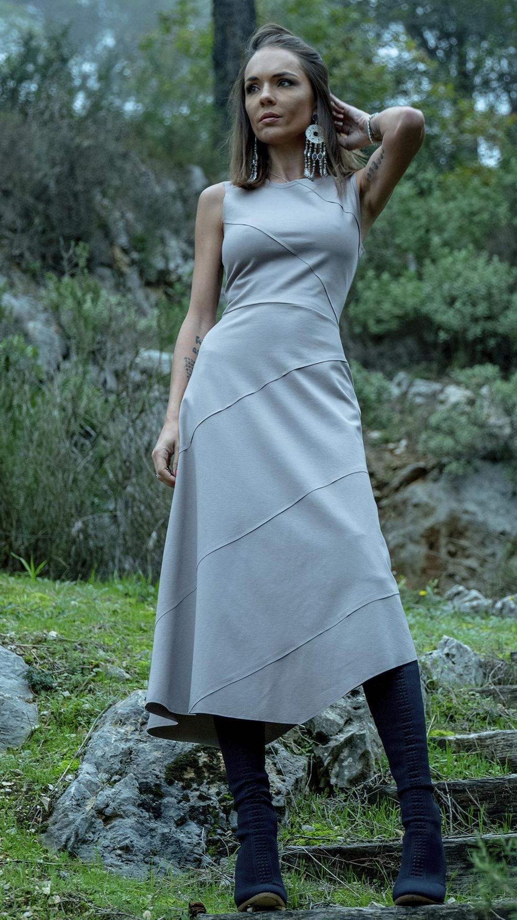 Серое платье MD