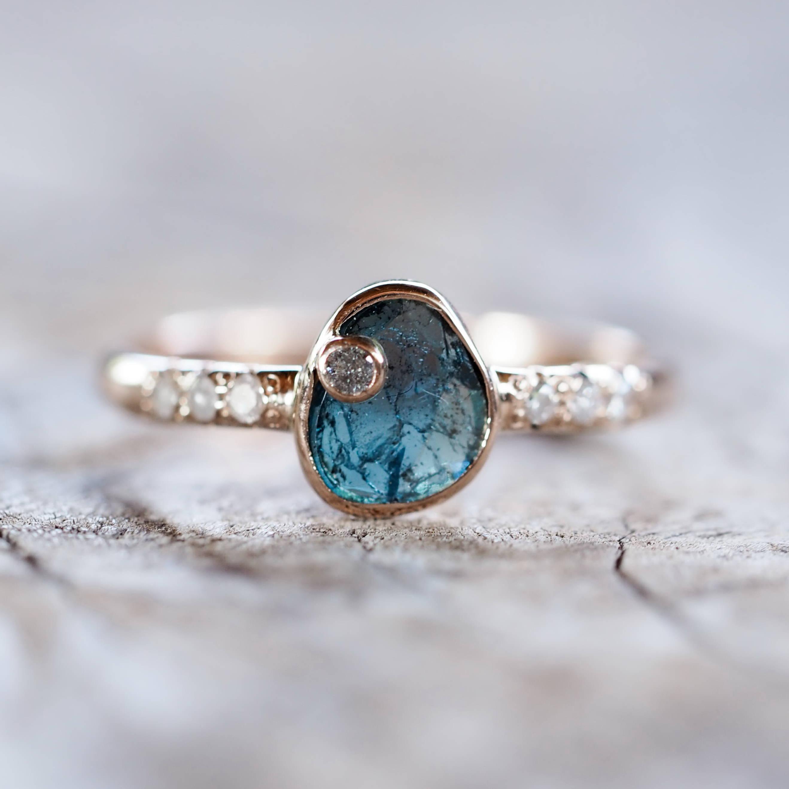Ethical diamond slice ring.
