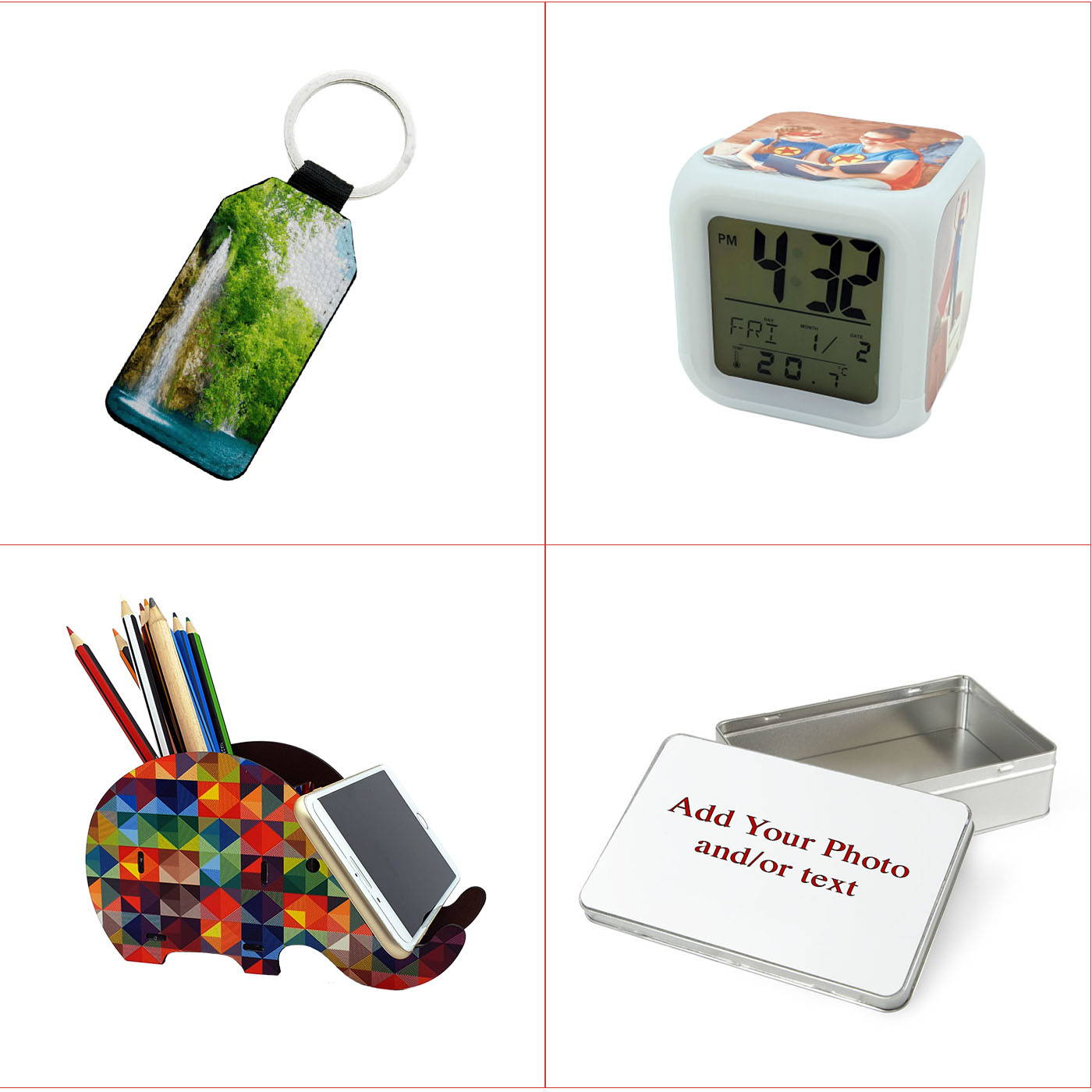 personalided desk organiser with 36% off
