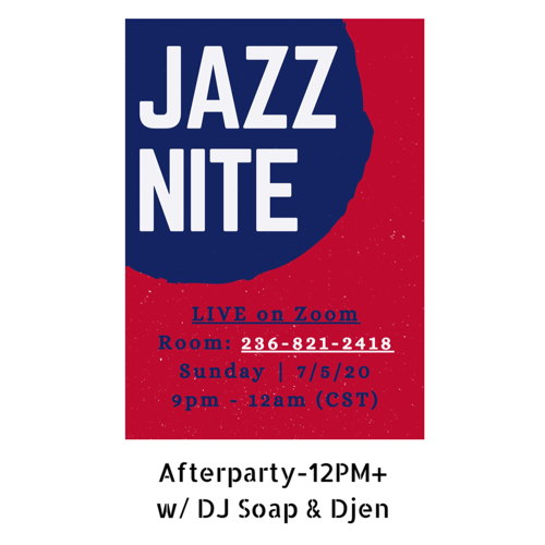 Picture of A night of music combining Jazz music, culture and conversation. Followed by an afterparty with a variation of music.
