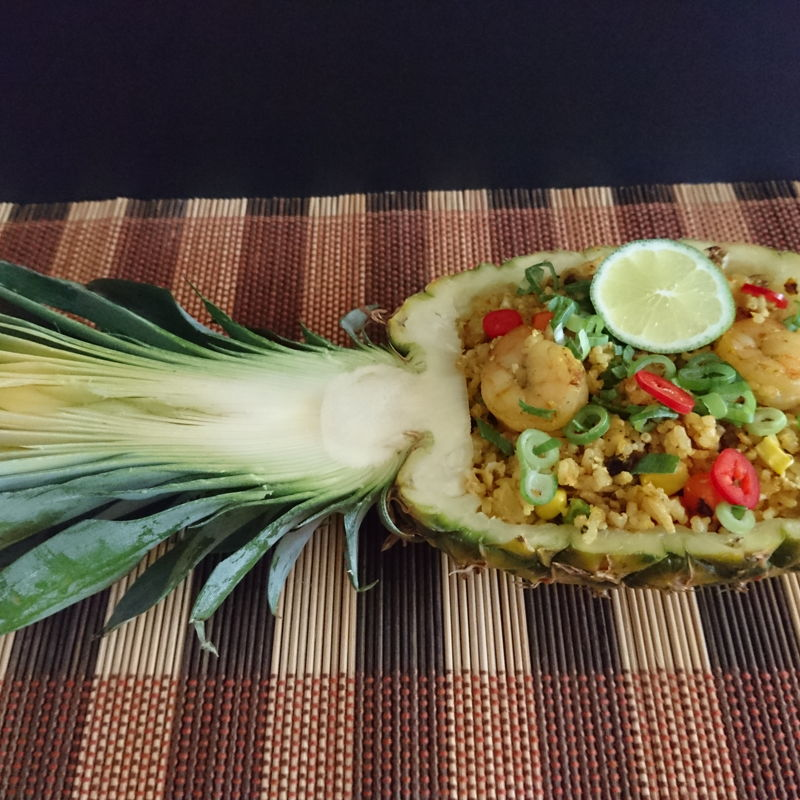 Date: 5 Dec 2019 (Thu) 42th Main: Pineapple Fried Rice (Nasi Goreng Nanas) [133] [126.9%] [Score:  8.5]